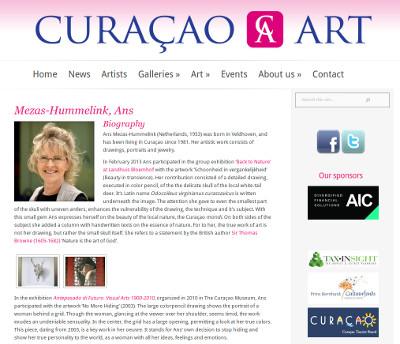 Werk van Ans op website Curaçao Art
