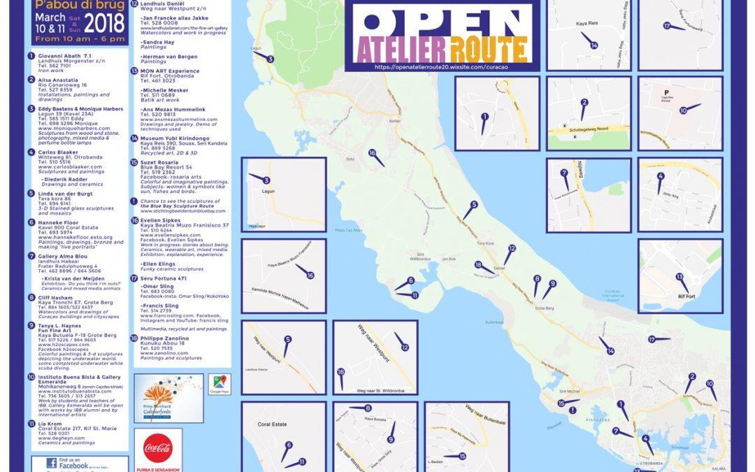 Open Atelier Route op 10 en 11 maart 2018